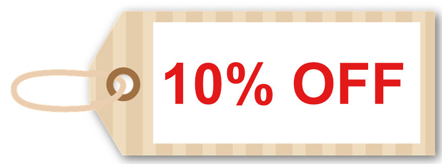 10 percent off limited time offer