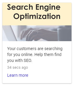 Bay Area SEO services - Google Posts example