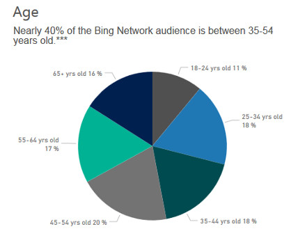 Bing user demographics for digital marketing - Age