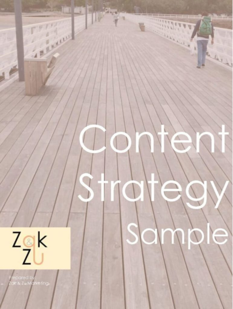 Content Strategy Example - click to view