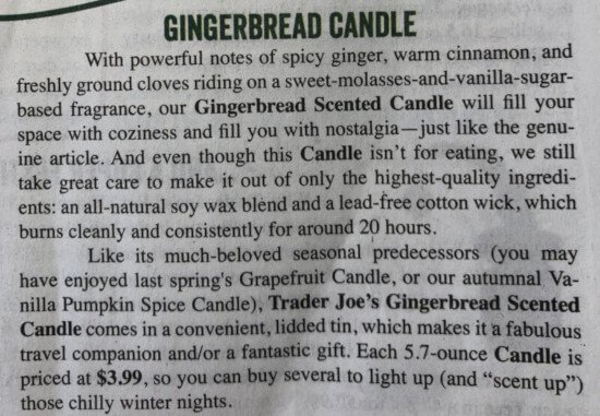 Gingerbread Candle Ad