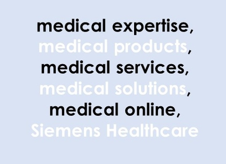Siemens Healthineers homepage meta keywords