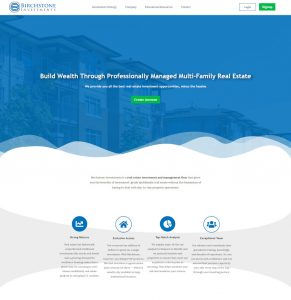 Website for Investment Firm