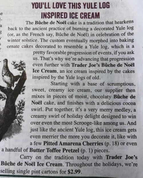 Yule Log Ice Cream Ad