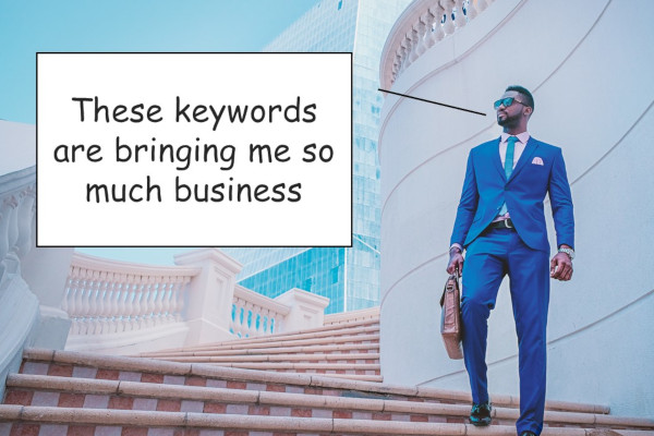 successful business owner happy with his SEO strategy